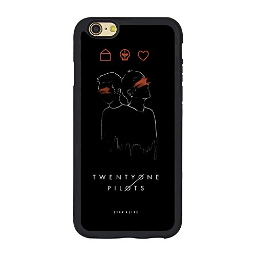 Iphone plus case,Twenty one pilots poster black hard plastic for Iphone 6...