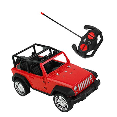 weijij Christmas Easy to Control Remote Controlled Jeep Car Radio Control Toys Car for Kids Learning Develop Boys Children Gift Cheap Clearance (Red)
