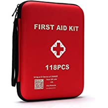 qusouloutdoor First Aid Kit - Waterproof Compact Emergency Survival Kit, Perfect for Home, Office, Car, School, Workplace, Camping, Travel and Any Outdoor Activities