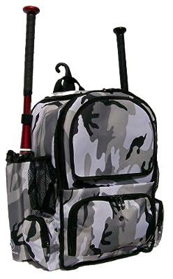 Gray Camouflage Chita CY Youth Softball Baseball Bat Equipment Backpack GYCACY