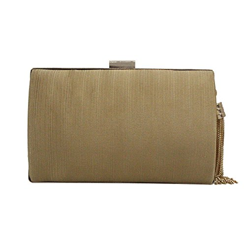 Frame Clutch Handbag Women's Vintage Metal Wedding Gold Party Satin Cckuu Pleated Evening Gold wv5XnqqzW