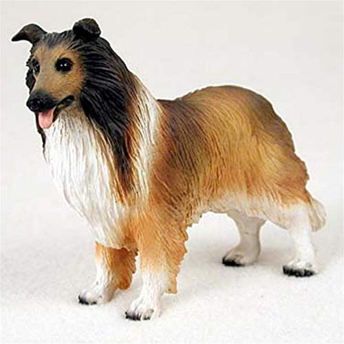 Ky & Co YesKela Collie Figurine Hand Painted Collectible Statue Sable ()