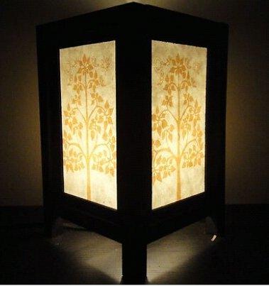 NAVA CHIANGMAI Thai Handmade Thailand Lotus Peaceful Art Bedside Table Lamp by NAVA CHIANGMAI