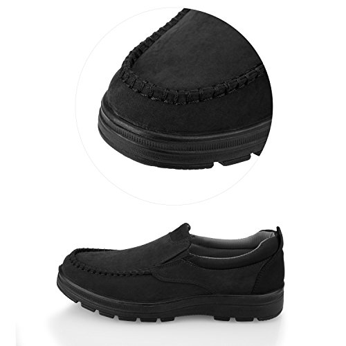 Sibba Mens Classic Slip-On Loafer Summer Boat Shoes Casual Shoes Black vGA4raNlP