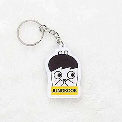 Bosunshine Key Rings of Bangtan Boys BTS Hang on the Bags or with the Keys Best Gifts for ARMY JUNG (Bts Army)