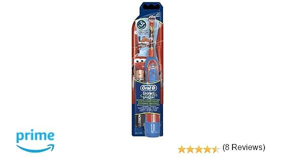 Cepillo de dientes Power Kids con diseño de la película Cars, a pilas, Oral B Advance, de Braun: Amazon.es: Salud y cuidado personal