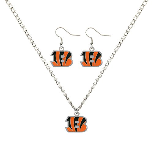 Nfl Logo Pendant (NFL Cincinnati Bengals Logo Earrings & Pendant Set)