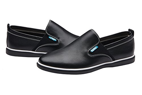 Shoes Black On Slip Walking Loafer ZRO Casual Men's Fashion wvqxx7UC