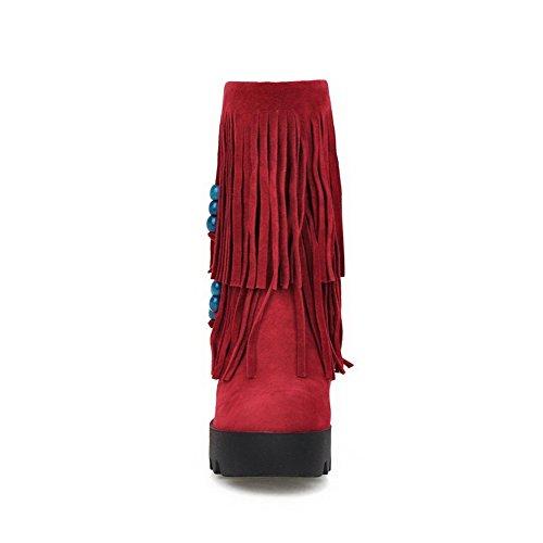 Lisäävät Sisällä Saappaat Punainen Shi Sametti Tupsut Tytöt Adeesu Ulkona Xi 5qFOExwZ