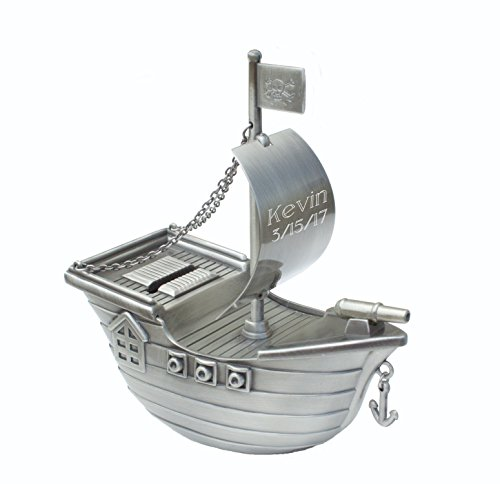 Personalized Pirate Ship Bank ()