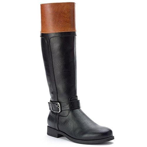 Croft & Barrow Women's Knee-High Riding Boots (Beige/Khaki) 7M