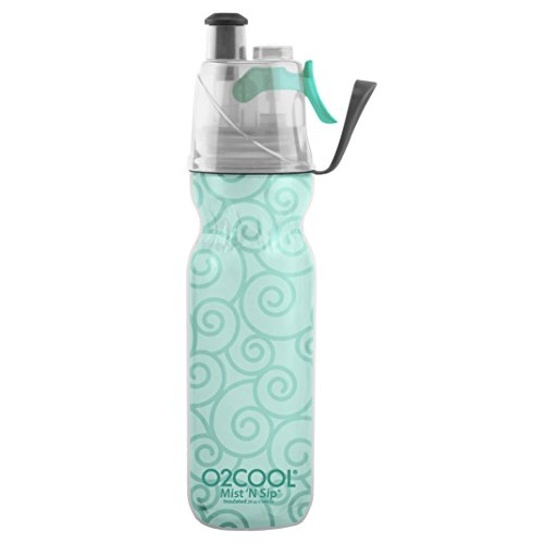 Misting Insulated Water Bottle, Mist 'N Sip Yoga Series by O2COOL, 20 oz