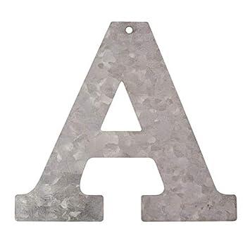 Metall Buchstabe N verzinkt H/öhe 12 cm Alphabet Initialien