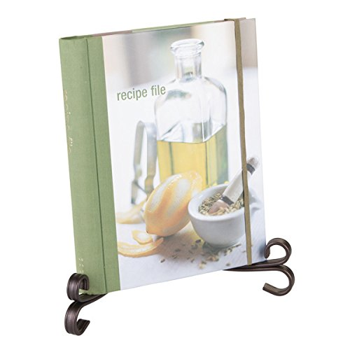 [mDesign Kitchen Cookbook Holder, Picture Display Easel, Decorative Plate Stand - Large, Bronze] (Bronze Easel Stand)