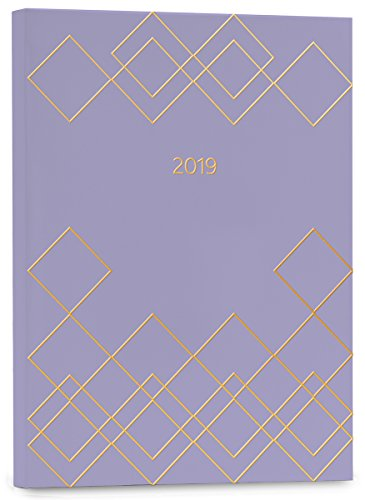 High Note® 2019 Geometric in Lavender Weekly Planner 18-Month Engagement Calendar Academic Organizer - July 2018 to December 2019, 5.75x7.75; (CHZ-0569)