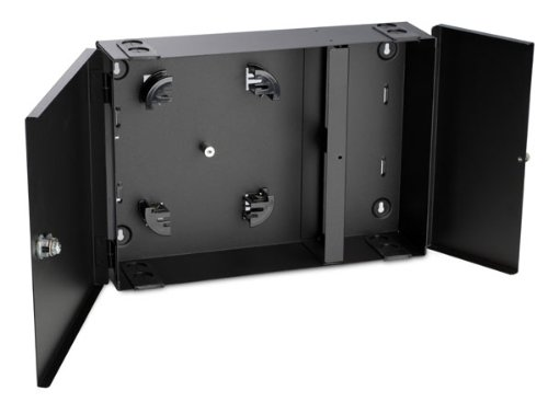 Accepts 4 Adapter Panels for Fiber Counts 24//36 Hellermann Tyton FEWM24 Wall Mount Fiber Enclosure-Unloaded Black