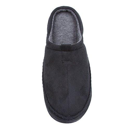 Pantofola Con Zanzariera Da Uomo In Microsuede Con Suola Robusta (vedi Più Colori E Misure) Nero
