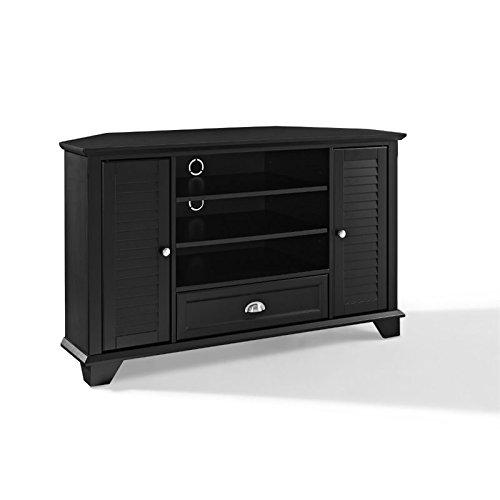 Crosley Furniture Palmetto 50-inch Corner TV Stand - Black