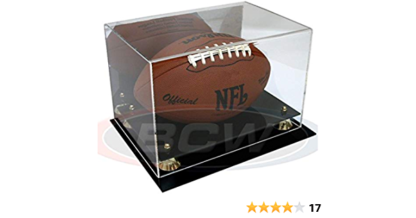 With Mirror Sports Memoriablia Display Case With Mirror /& Wall Mount BCW Deluxe Acrylic Football Display Sportscards Collecting Supplies