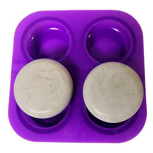 Molde de silicona p/cemento -4 piedras redondas p/mandalas