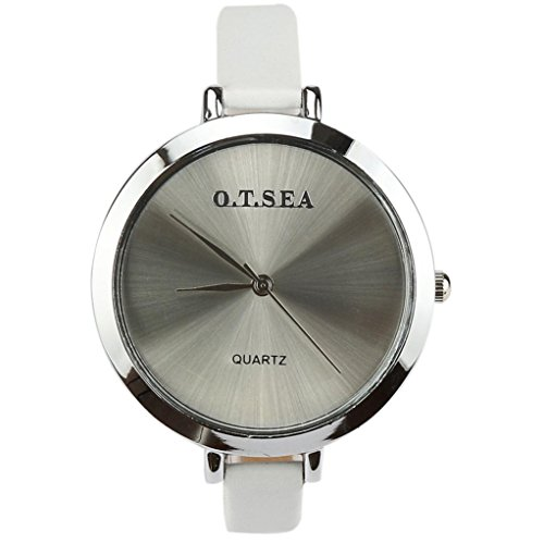 Women Watch,FUNIC Dial Leather Strap Quartz Analog Wrist Watch Gift Watch ()