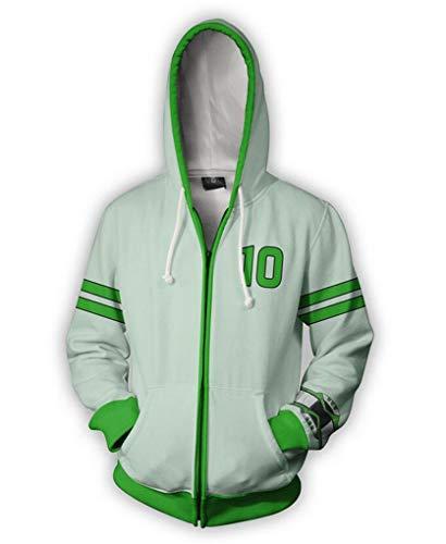 Jonikow Unisex 3D Game Pattern Hoodies Jacket Cosplay Costume Zipper Hoodie (2XL, 3) -