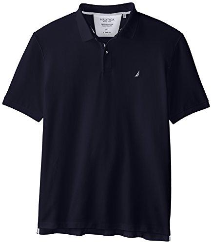 - Nautica Men's Short Sleeve Solid Deck Polo, Navy, XXX-Large