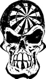 Dart Board Skull Sticker, Decal Sticker Vinyl Car Home Truck Window Laptop