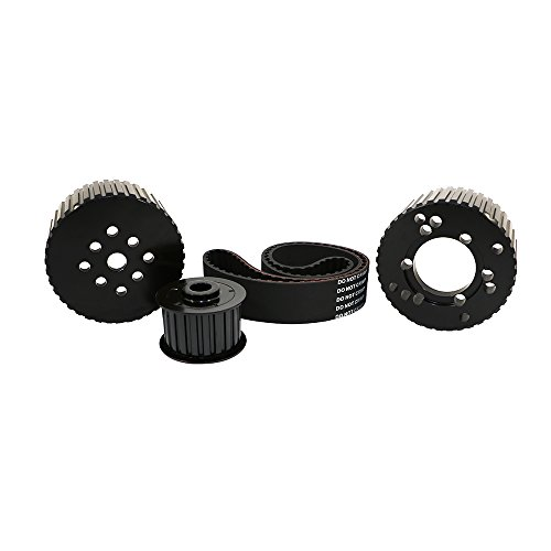Assault Racing Products 2258KIT-BK for Big Block Chrysler/Plymouth/Dodge Black Billet Aluminum Gilmer Belt Drive Pulley Kit BBM 383 440