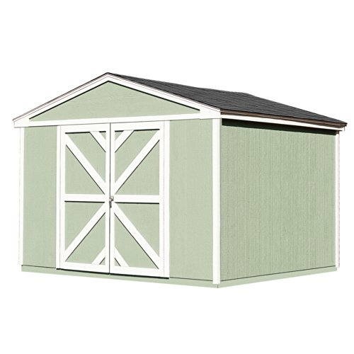 Wood Storage Somerset Shed - Handy Home Products Somerset Wooden Storage Shed Kit with Floor, 10 by 8-Feet