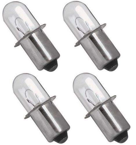 Compatible Xenon Bulb for Dewalt DW9083 18 Volt (4 Pack)