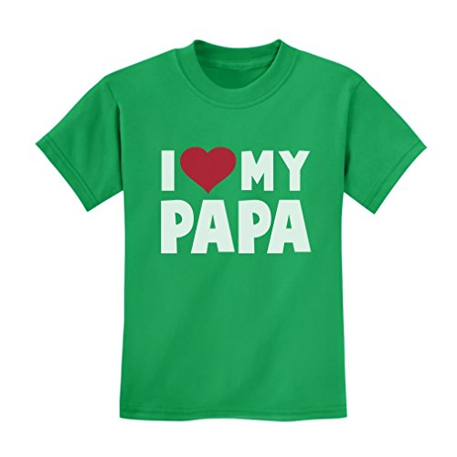 I Love Heart My Papa Children's Fathers Day/Xmas Gift Kids T-Shirt 3T Green