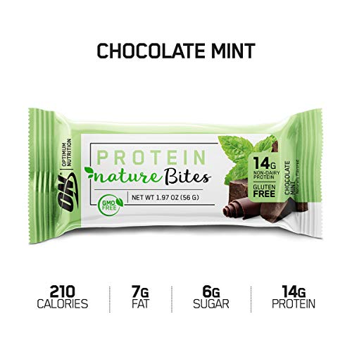 Optimum Nutrition Nature Bites Decadent Protein Snack, Chocolate Mint, 0.13 Pound, 9 Servings