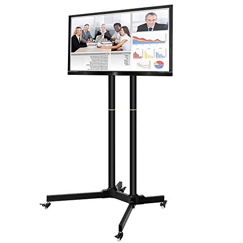 Toolsempire Height Adjustable Mobile TV Cart Rolling TV Stand for 30'' to 65'' Universal LCD LED Plasma Flat Panel Screens Within 600x400mm up to 132lbs with Wheels by Toolsempire