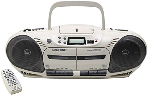 Califone 2455AV-03 Dual Cassette Variable Speed CD Player 14W by Califone