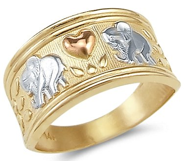 Elephant Tri Color Ring - 5