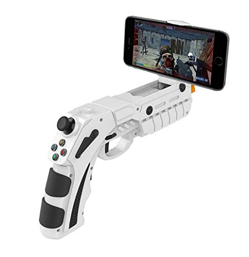 FOMEIL PG-9082 Bluetooth Gampad Game Controller AR Gaming Gun Mobile Gaming Joystick for Android/iOS iPhone, Gift for Children and Men