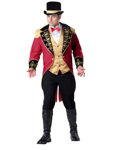 Ringmaster Costume Plus Size (InCharacter Costumes Men's Plus Size Ringmaster Costume, Red Gold/Black, XX-Large)