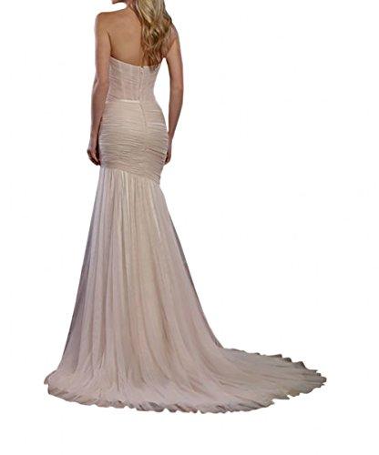 ... La_Marie Braut Elegant Rosa Herzuasschnitt Abendkleider  Brautjungfernkleider Ballkleider Lang A-linie Rock
