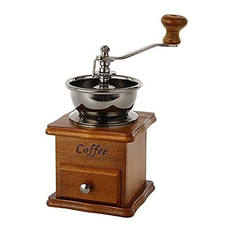 ZULUX Vendimia manual Amoladora de café de cerámica cónico Burr portátil de la manivela cafetera (De lino): Amazon.es: Hogar