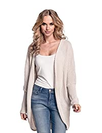 Glamour Empire. Womens Warm Buttonless Cardigan Chunky Textured Knit. 323