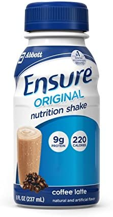 Ensure Original Nutrition Shakes, Coffee Latte, 8 oz -1 Case of 24 Bottles