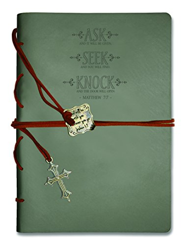 Journal Wrapped (Journal-Leather Wrapped-Gray- Ask Seek Knock)