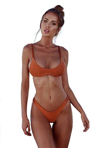 Arancione Beachwear Costume Set Due Bikini Pezzi Imbottito Reggiseno Sexy up Spiaggia Bagno Da Donna Push Heekpek qSFxHZgSw