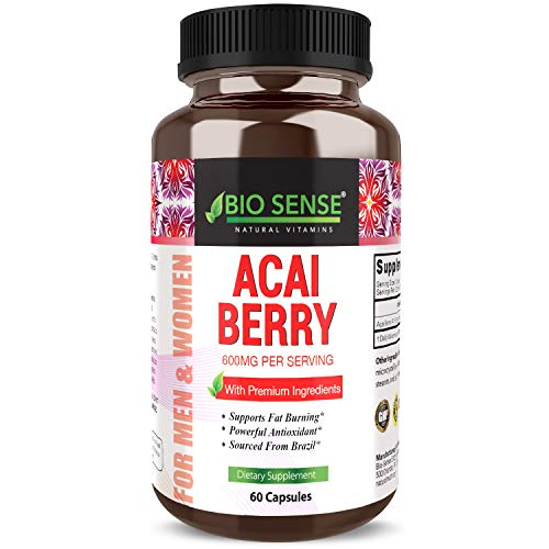 Pure Acai Berry Concentrate Capsules - Acai Berry Cleanse Weight Loss + Antioxidant Support + Energy + Immune System Booster - Health and Wellness Dietary Supplement For Women & Men