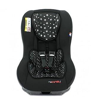 mycarsit Autositz, Gruppe 0+/1(von 0bis 18kg), Motiv Etoiles schwarzen TF6XG 040N38