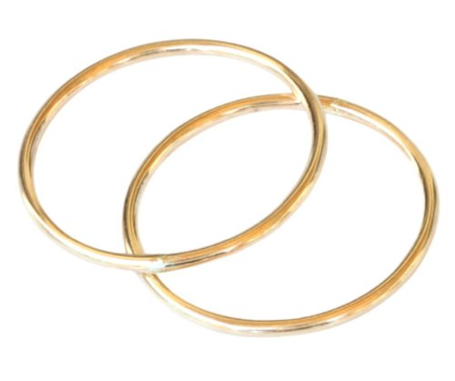 (California Toe Rings 14k Gold Filled Double 1mm Thin Band Toe Rings (4) )