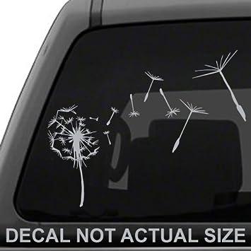 Amazoncom Dandelion Flying Die Cut Vinyl Decal Sticker For Car - Die cut vinyl decal stickers