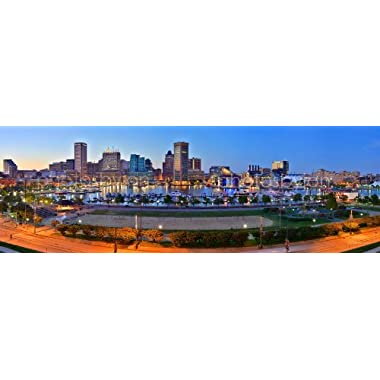 Baltimore Inner Harbor Skyline PHOTO PRINT UNFRAMED THREE STYLES 11.75 inches x 36 inches Photographic Panorama Poster Picture Standard Size