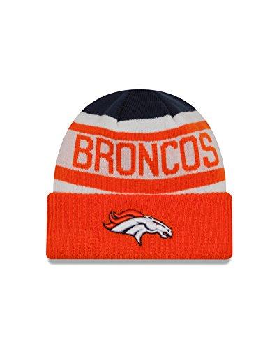 NFL Denver Broncos Biggest Fan 2.0 Cuff Knit Beanie, One Size, Orange